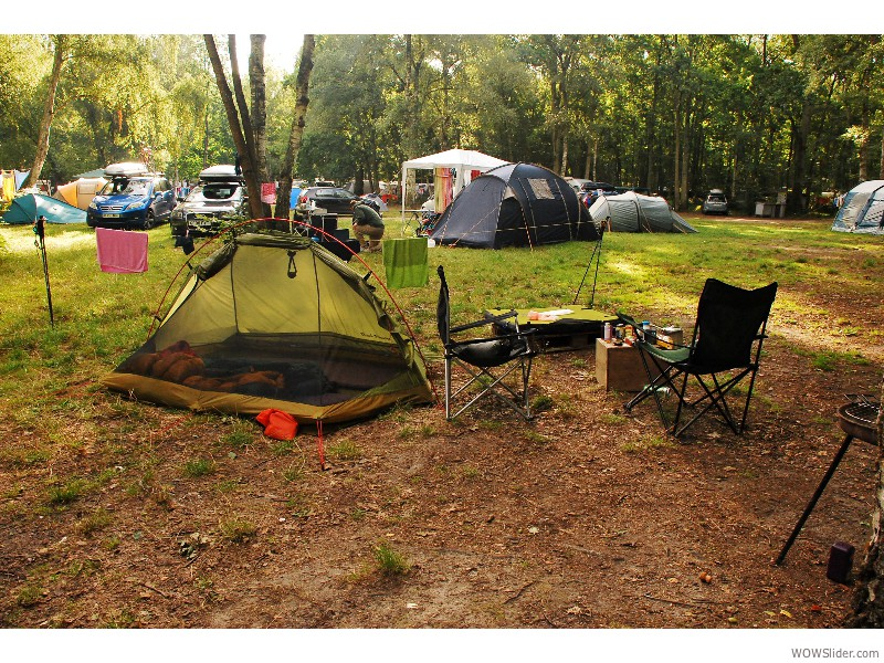 Camping in Fontainebleau